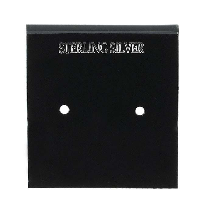 Black Plastic Printed Hanging Earring Card
