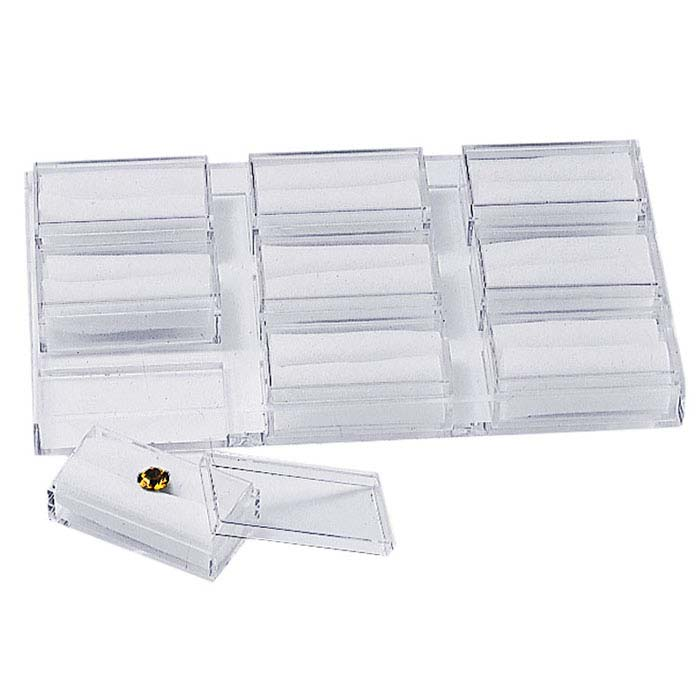 Clear Acrylic Nine-Box Gem Tray