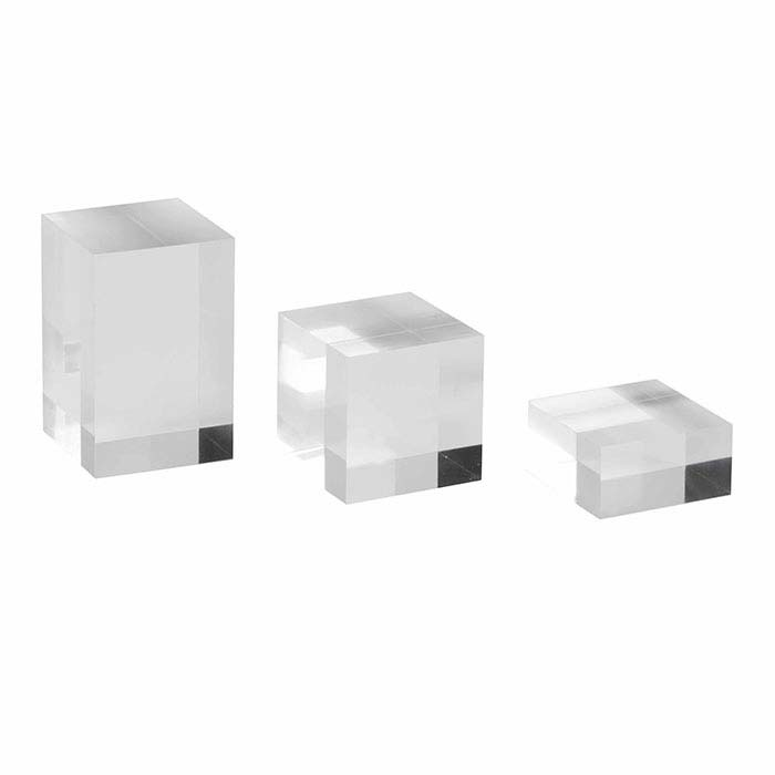 Clear Solid Acrylic Square Riser Display Set