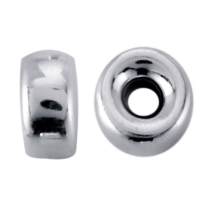 Sterling Silver 6 x 3.3mm Roundel Bead