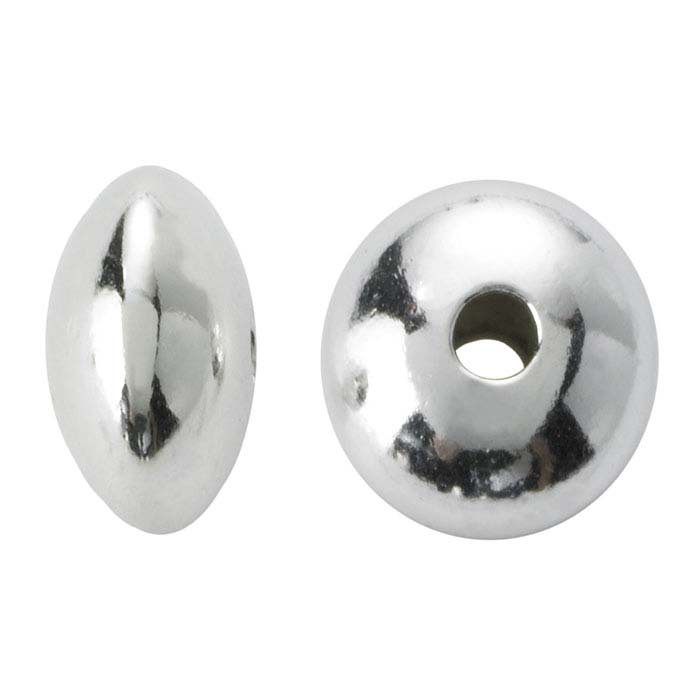 Sterling Silver 3.5 x 1.9mm Saucer Bead