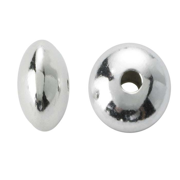 Sterling Silver 4.4 x 2.5mm Saucer Bead