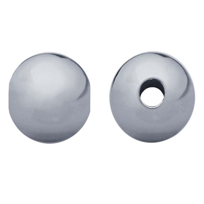 Sterling Silver Round Seamless-Look Beads
