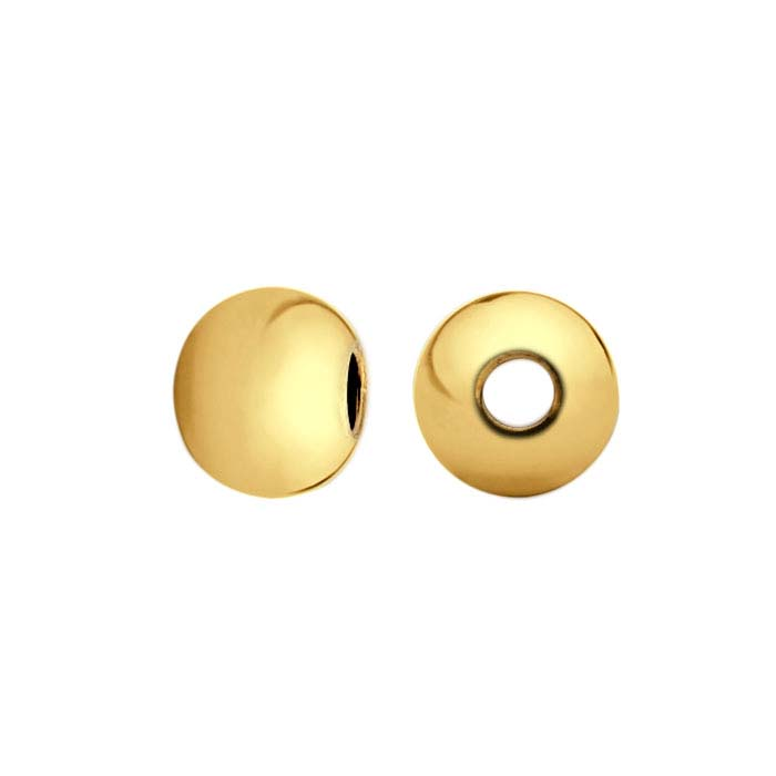 14/20 Yellow Gold-Filled 2.5mm Round Seamless Bead