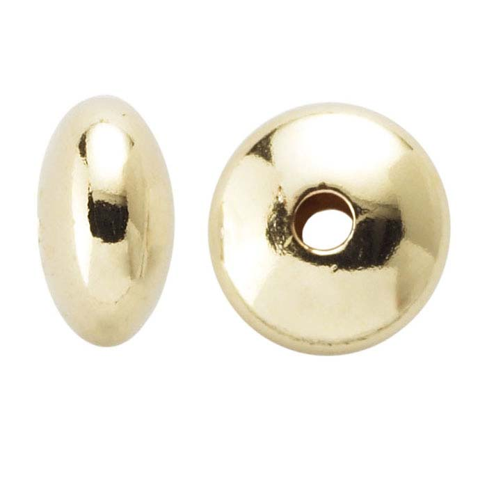14/20 Yellow Gold-Filled 3.5mm Saucer Bead