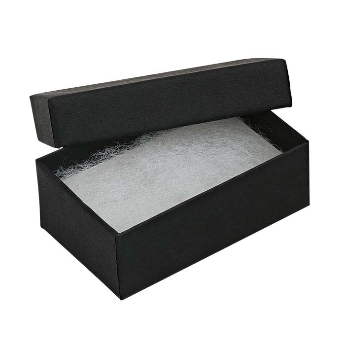 "Matte Black Recycled-Paper 2-1/2""W x 1-1/2""D x 7/8""H Gift Box"