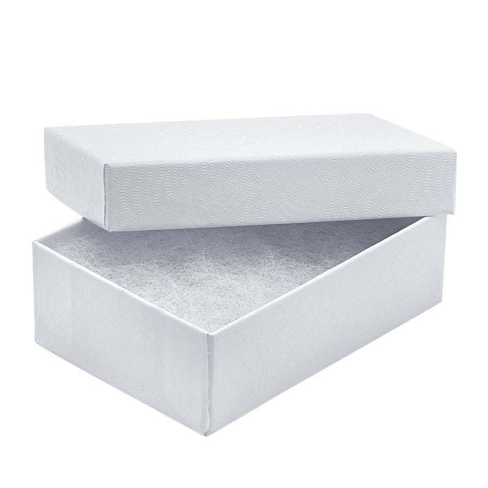 Classic White-Swirl Recycled-Paper Gift Boxes