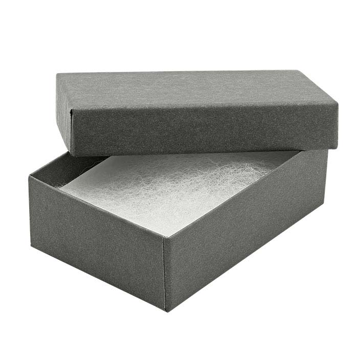 Slate Gray Paper-Covered Gift Boxes