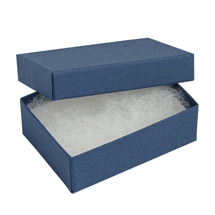 Navy Blue Recycled-Paper Gift Boxes