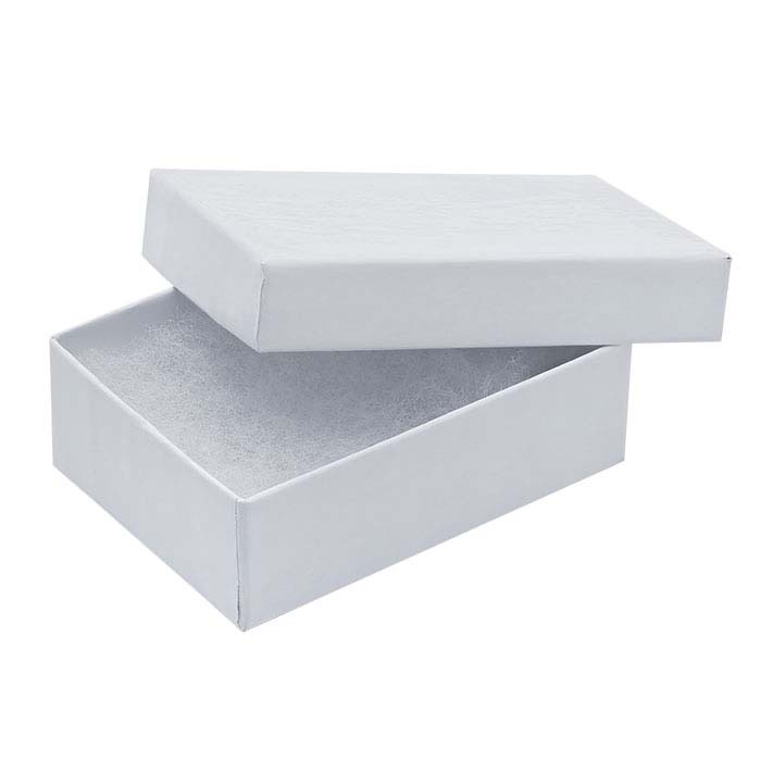 White Glossy Paper-Covered Gift Boxes