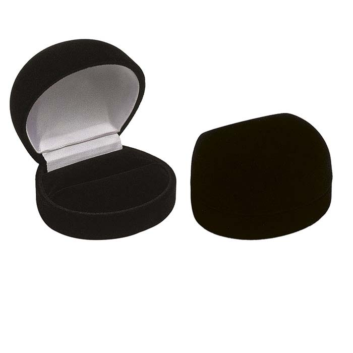 Flocked Velour Round Ring Gift Boxes