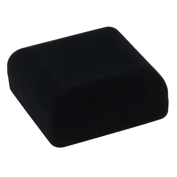 Black Flocked Velour Bangle or Watch Gift Box