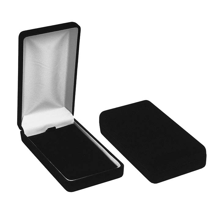 Black Flocked Velour Long Universal Gift Box