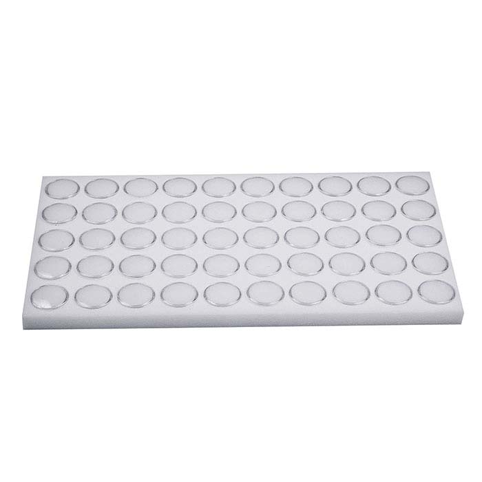 "White Foam Full-Size Tray Liner for 1-1/8"" Gem Jars"