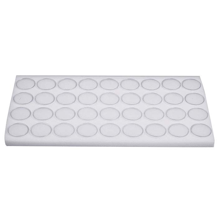 "White Foam Full-Size Tray Liner for 1-3/8"" Gem Jars"