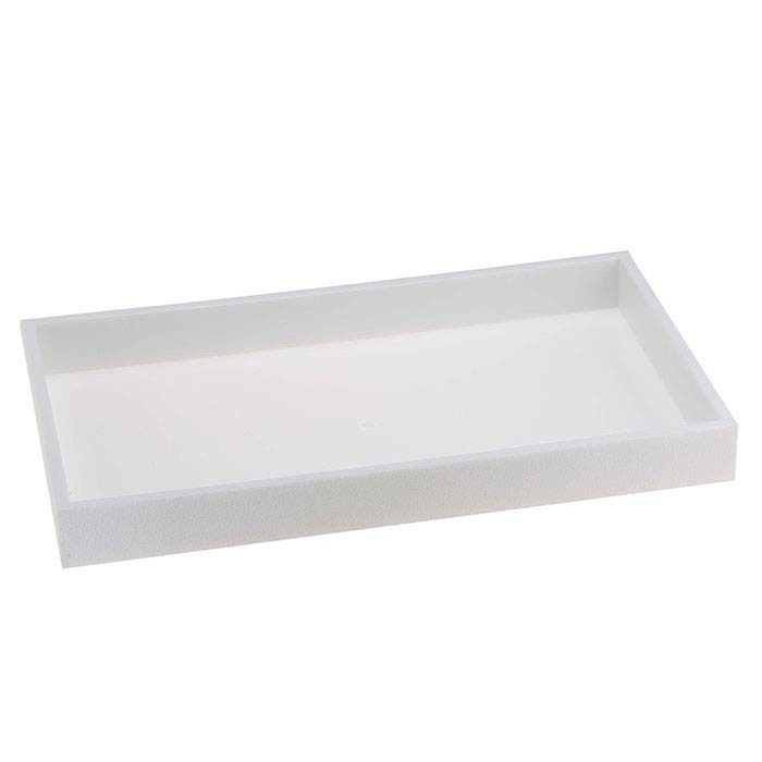 White Plastic Stackable Full-Size Tray