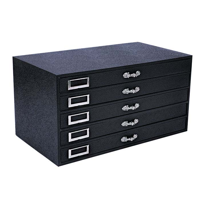 Black Five-Drawer Jewelry Organizer