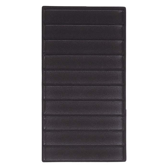 Black Flocked Plastic Divided Bracelet or Watch Tray Insert