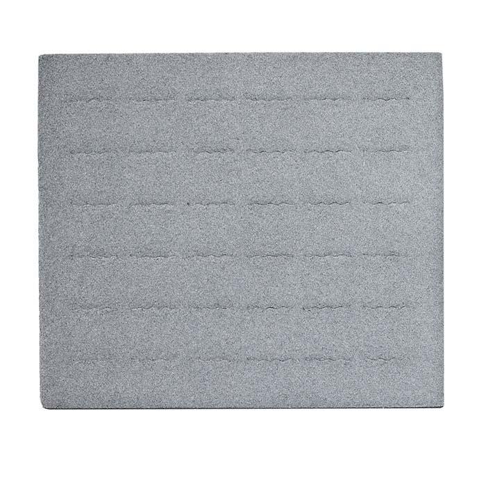Gray Velour-Flocked 36-Ring Half-Size Tray Insert