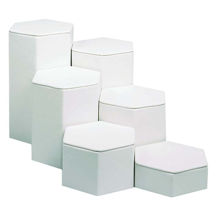 Faux Leather Hexagonal Block Riser Display Sets