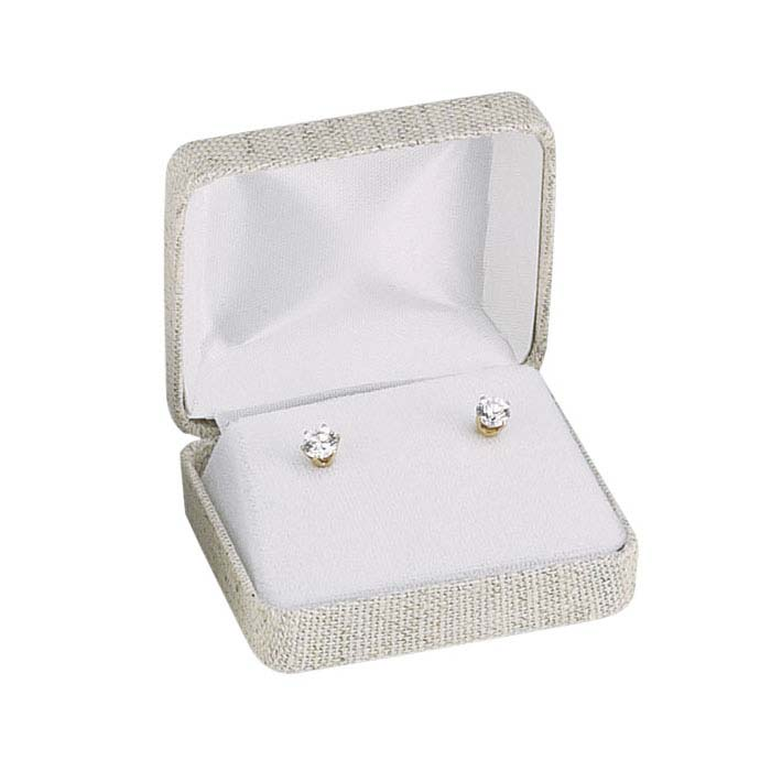 Natural Linen Earring Gift Box
