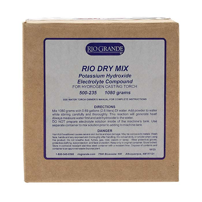 Rio 1080g Dry Mix Potassium Hydroxide Electrolyte Compound for Casting or Four-Torch Hydrogen Welding Systems