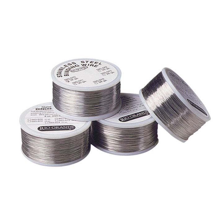Stainless Steel Round Wire, for Handling and Binding and Laser-Welding, 32-Ga., 8-Oz. Spool