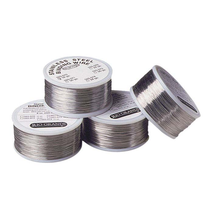 Stainless Steel Round Wire for Handling and Binding, 24-Ga., 8-Oz. Spool