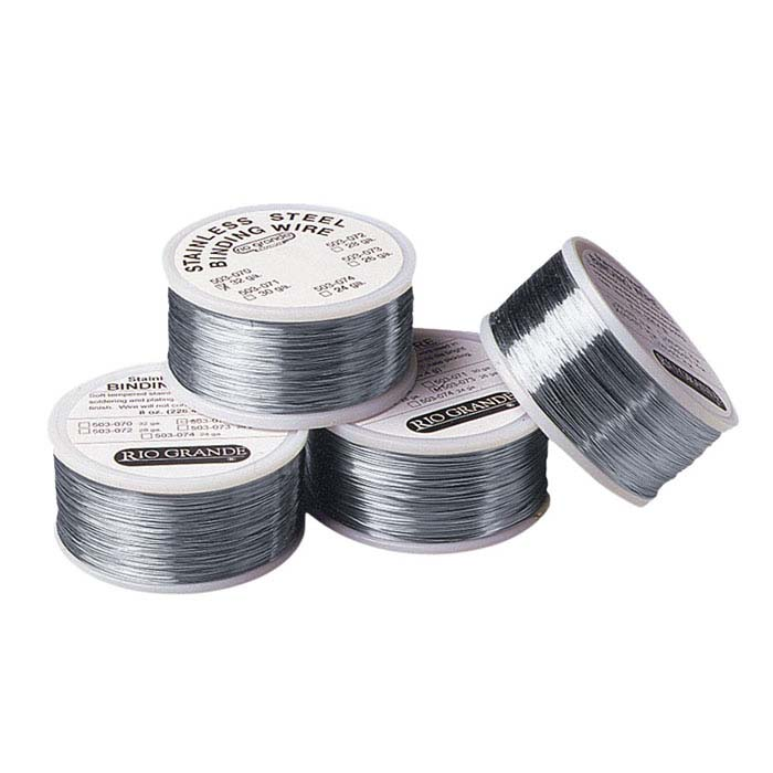 Stainless Steel Round Wire for Handling and Binding, 22-Ga., 8-Oz. Spool