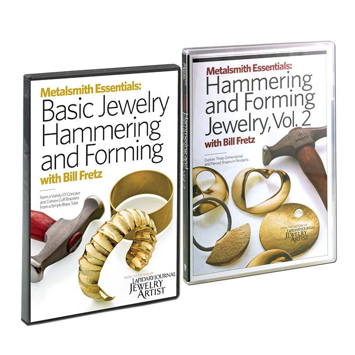 Metalsmith Essentials: Jewelry Hammering and Forming, Vols. 1 and 2, with Bill Fretz, DVD