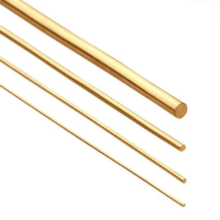 14K Yellow Gold Round Wire, 30-Ga., Dead Soft
