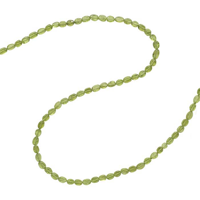 Peridot 6 x 4mm Oval Bead Strand