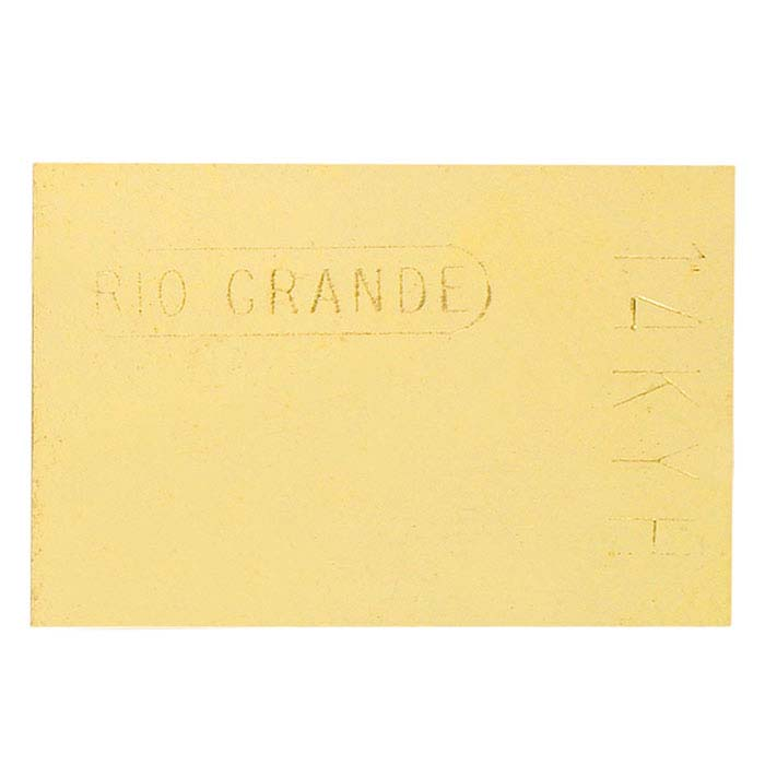 14K Plumb Yellow Gold Sheet Solder, 30-Ga., Hard