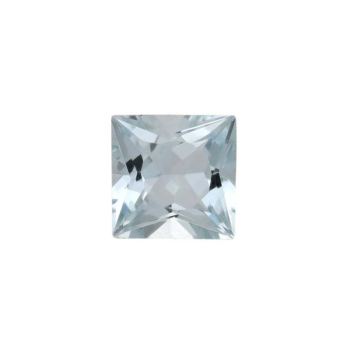 Aquamarine 5mm Princess Faceted Stone, A-Grade