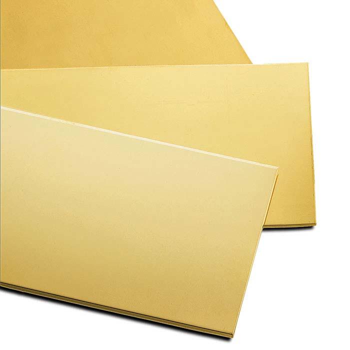 24K Yellow Gold Sheet, 30-Ga., Hard