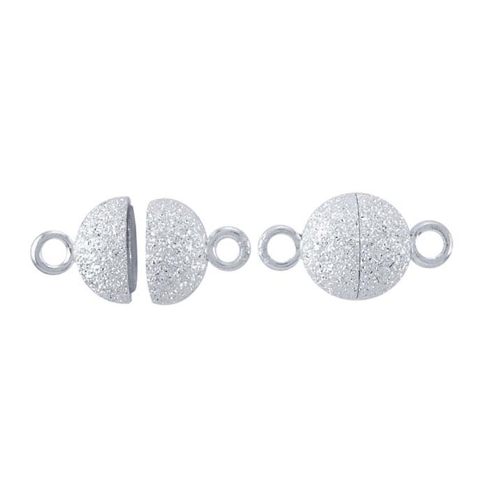 Sterling Silver Round Stardust Magnetic Clasps
