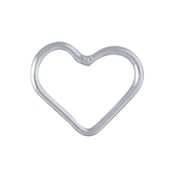 Sterling Silver 5.5 x 7.1mm Heart-Shaped Closed Ring