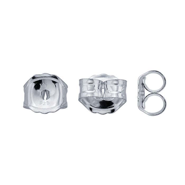 Sterling Silver 3.8mm Medium-Weight Ear Nut