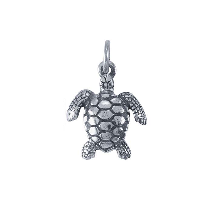 Sterling Silver Sea Turtle Charm