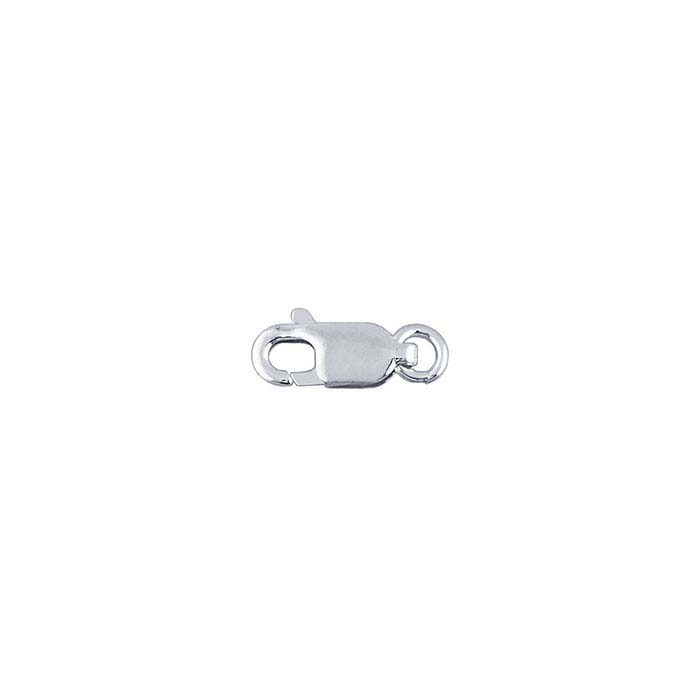 1/10 Silver-Filled Flat Oval Lobster Clasps with Open Ring