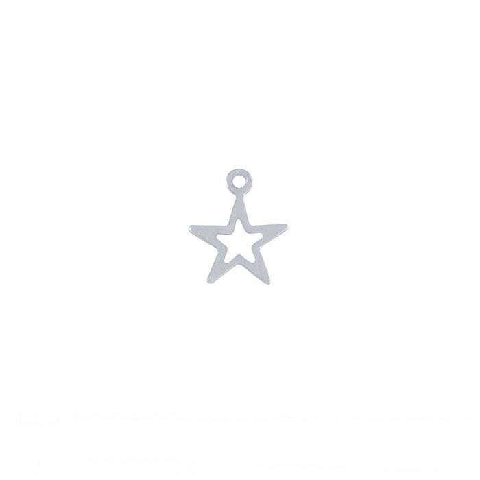 Sterling Silver Open Star Component
