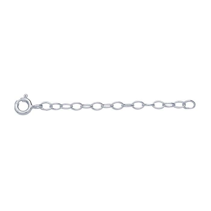 Sterling Silver 2.5mm Oval Cable Chain Extender