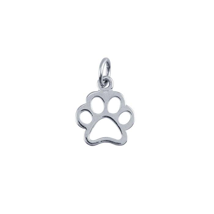 Sterling Silver Open Paw-Print Charm