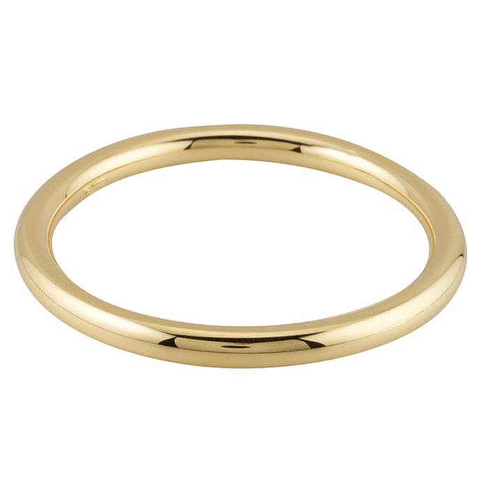 Sterling Silver Yellow Gold-Plated Hollow Round Bangle Bracelet
