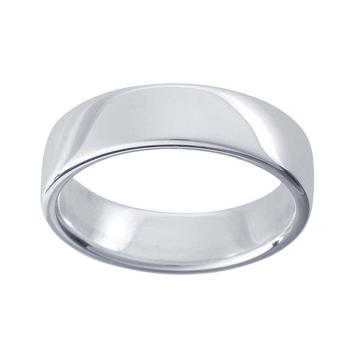 Argentium Silver 6mm Wedding Band