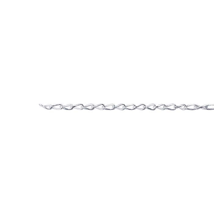 Sterling Silver 1.6mm Diamond-Cut Twist Curb Chain, By the Foot