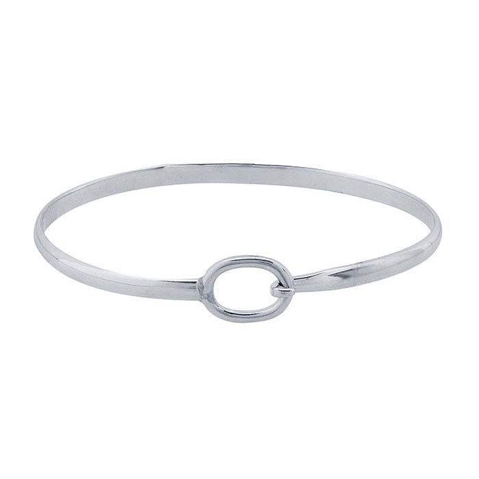 Silver Flat Wire Bracelet