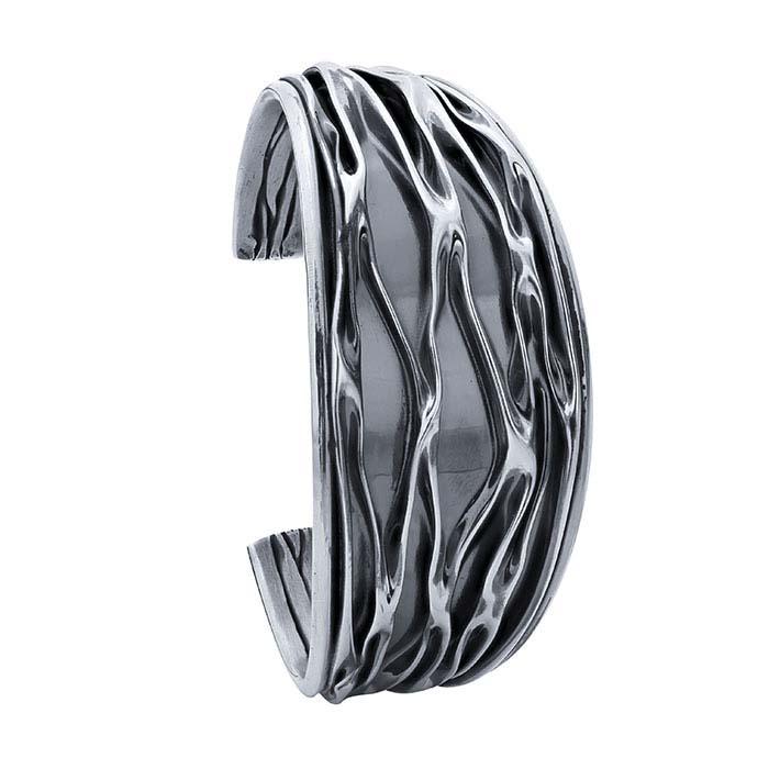Sterling Silver Fold-Formed Cuff Bracelet
