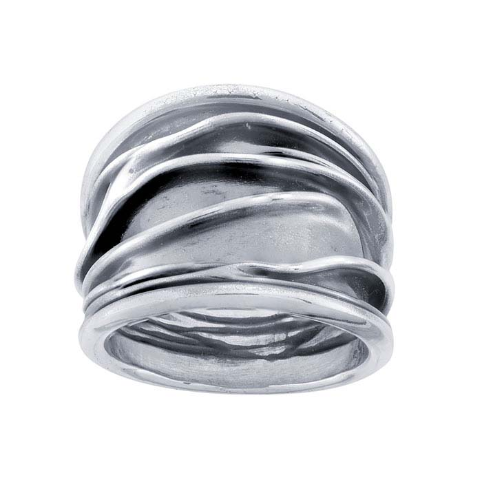 Sterling Silver Fold-Formed Rings