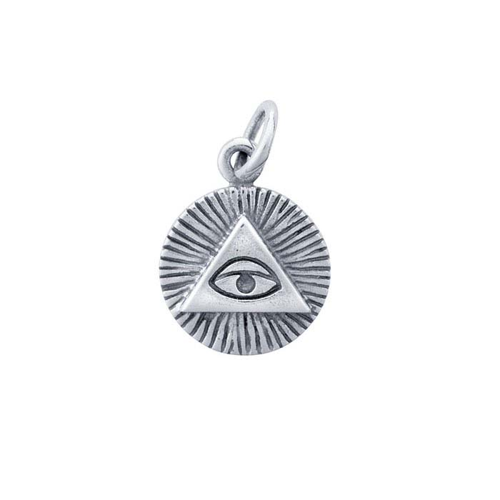 "Sterling Silver ""All-Seeing Eye"" Charm"